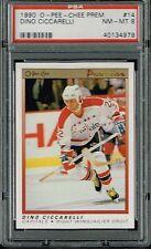 PSA 8 1990 Opeechee OPC Premier Hockey Dino Ciccarelli #14 Washington Capitals