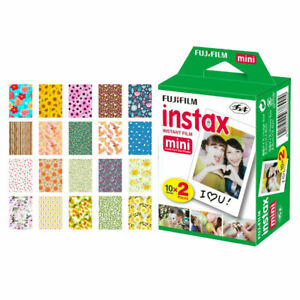 Fujifilm instax mini Instant Film (20 Exposures) + 20 Car Sticker Border Frames