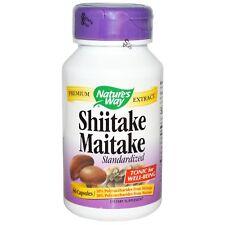 Nature's Way, Shiitake Maitake, estandarizado, 60 Cápsulas