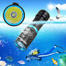Waterproof 10000LM XML T6 LED Dive Flashlight Scuba Light Lamp Underwater Torch