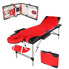 """Portable Headrest 3 Fold Facial SPA Bed Tattoo 84""""Massage Table Sheet Carry Case"""