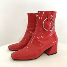Dorateymur Patent Leather Red Boots Sz39 25cmFoot length