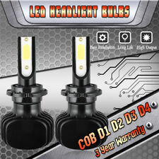1000W 150000LM Total D1S D2S D3S D4S D1R D2R D3R D4R LED Headlight 6K Bulbs Kit