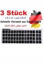 3 stück TASTATURAUFKLEBER ARABISCH schwarz Schriftzeichen transparen