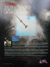 9/1992 PUB HUGHES SIEMENS NFT AdSAMS MISSILE AIR DEFENCE SYSTEM ORIGINAL AD