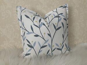 "Cushion Cover 18"" John Lewis & Partners Fabric Bella, Thistle Leaf Design Blue"