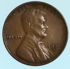 High Grade Semi Key 1931-S Lincoln Wheat Cent US Copper Penny Coin Lot E707