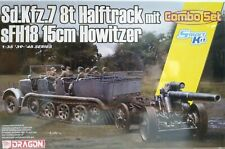 Dragon Models 1/35 scale kit 6918,  Sd.Kfz.7 8t Halftrack w/sFH18 15cm Howitzer.