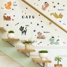 Wandtattoo Katzen niedliche Kätzchen Wandsticker bunt tolle Deko Idee Aufkleber