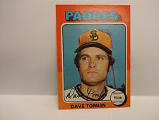 1975 Topps Dave Tomlin Card # 578 San Diego Padres