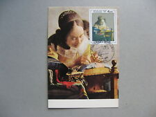 FRANCE, maximumcard maxi card 1982, painting Vermeer the lace worker