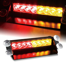 8 LED Strobe Light Bar Warning Flash Police Beacon Work Emergency Lamp 12V A/R