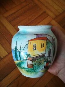 Keramik Vase HUBER ROETHE Keramische Werkstatt Achdorf Landshut 1950 er