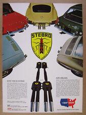 1969 Porsche 912 MGB Jaguar XKE Triumph TR4A Fiat 850 Stebro Exhaust vintage Ad