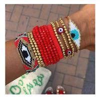 Bracelet Women Red Lucky Turkish Evil Eye Bracelets 9pcs/set Pulseras Jewelry