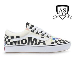 Vans X MoMA ComfyCush Old Skool Brand/Checker Shoes Size Men's 8/ Women's 9.5