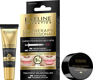 Eveline 2in1 Hyaluronic Acid Lip Plumber Filler & Sugar Lip Scrub Booster Serum