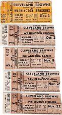 1950s CLEVELAND BROWNS TICKET STUBS - PICK ONE - REDSKINS STEELERS EAGLES