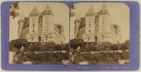 Francia Pau Il Château c18870 Foto Stereo Jean Andrieu Vintage Albumina
