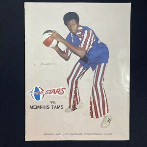 Vintage 1974 ABA Utah Stars vs Memphis Tams Basketball Game Program 03/06/74 NBA