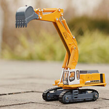1:87 Scale Diecast Crawler Excavator Construction Vehicle Car Models Xmas gift