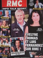PUBLICITÉ 2003 RMC INFO EVELYNE THOMAS BOURDIN SPITZ LAHAIE - ADVERTISING