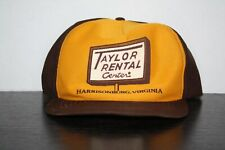 VintageTaylor Rental Yellow Brown Hat Harrisonburg Va Made In Usa