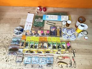 Vintage Fishing Tackle Lot, Some NOS, Eagle Claw, Spin Line, Golden Excel, Etc
