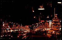 HOLLYWOOD Los Angeles USA Amerika Santa Claus Lane by Night Postcard ~1960/70