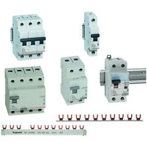 Legrand Schalter FI-Schutzschalter Sicherungen FI/LS Trafo Steckdose Kammschiene