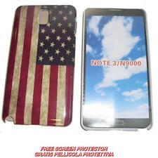 Pellicola+custodia BACK COVER IMD USA FLAG per Samsung Galaxy Note 3 N9000 (B6)