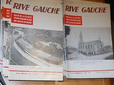 LOT DE 93 N° REVUE DE LA SOCIETE D'ETUDE D'HISTOIRE DE LYON RIVE GAUCHE 1971-98