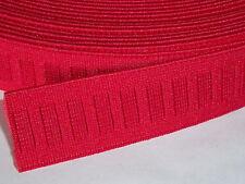 2 METER Gummiband Gummibänder Band  25 mm  rot  NEUWARE (Grundpreis: 1,40 €/m)