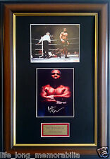 MIKE TYSON THE IRON MAN SIGNED AND FRAMED BOXING PHOTOS
