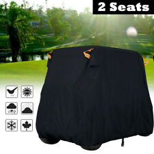 "94.5"" 2 Person Passenger Golf Cart Storage Cover UV Rain Sun Dust Protector"