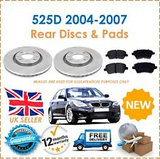 For E60 E61 525D 2004-2007 Two Rear Vented 320MM Brake Discs & Brake Pads Set