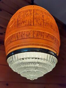 Antique Vtg 1930s Pub/Bar Art Deco Large Hanging/Pendant Ceiling light Fixture