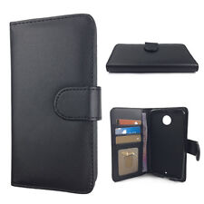 Black Synthetic Leather Wallet Case Cover for Motorola Moto X II 2nd Gen 2014
