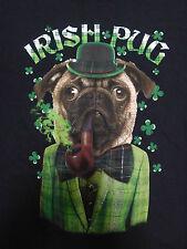 Irish Pug T Shirt St Patricks Day Tee Size L Chest 42-44
