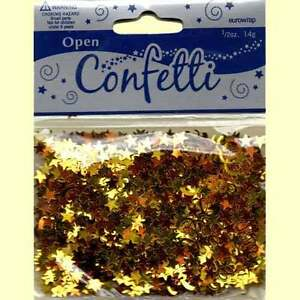 EuroWrap GOLD & ORANGE STARS & SWIRLS Table Confetti 14 Gram Party Sprinkles