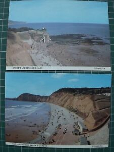 Jacobs Ladder Sidmouth Postcards x2