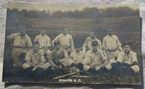 Vintage Baseball Team Real Photo Postcard Manor A.C. AtLantic Coast? RPPC