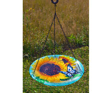 Bird Baths Blooming Sunflower Glass Hanging Bird Bath Se5037