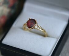 Antique Jewellery Gold Ring Ruby and White Sapphires Art Vintage Jewelry R