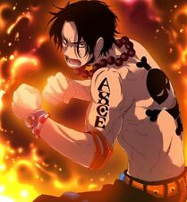 """One Piece Temporary Tattoo - Ace (adult size) 2 x 5"""""""