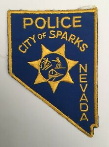 City of Sparks Police, Nevada old cheesecloth shoulder patch