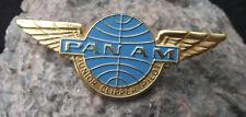 Antique Pan Am Panam Airlines Junior Clipper Pilot Wings Aircraft Pin Badge