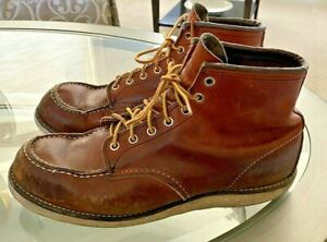 Vintage Red Wing Brick Red Ankle Boot 12 D Moc Toe Crepe Soles 875  0118 9628590