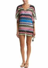 PilyQ Clara Tassel Tunic Dress Swimsuit Coverup $154 NWT 8 10 12 14 Medium Large