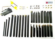 Complete 16mm Lathe Tool Set with Carbide Inserts British Made Quality Tools